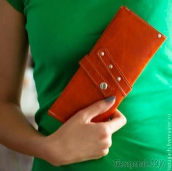 Шьем кошелек из натуральной кожи