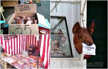 17 уморительных снимков, доказывающих, что рынок - место, где возможно все