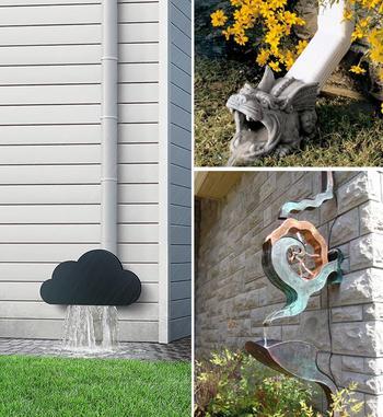Как интересно украсить водосток
