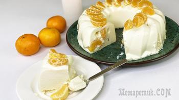 На скорую руку и без духовки - Творожный торт с мандаринами - Очень нежно и вкусно!
