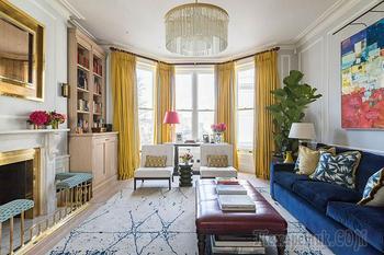 Яркая современная классика в квартире в Лондоне