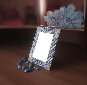 Декорируем рамку для зеркала полимерной глиной