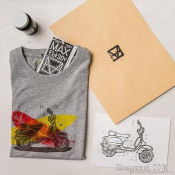 Линогравюра — печатаем на открытках, футболках, стенах!