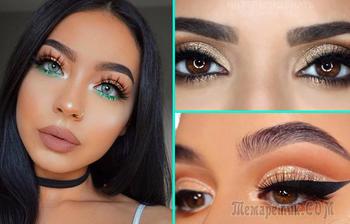 30 великолепных идей новогоднего макияжа для девушек с разным цветом глаз