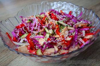 Крутой салат без майонеза! Взрыв вкуса!