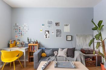 Скандинавская квартира с ретромебелью на «Коломенской»
