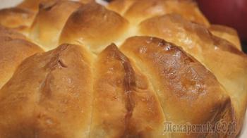 """Яблочный Пирог """"Ломтик"""". Отрывной пирог с нежными булочками лепестками"""