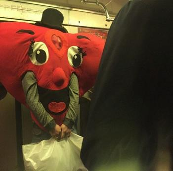 Необычные пассажиры метро