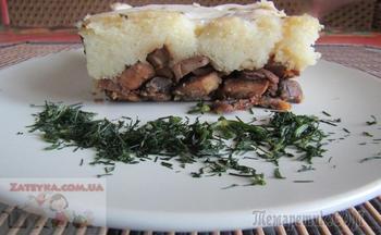 Постная картофельная запеканка с грибами