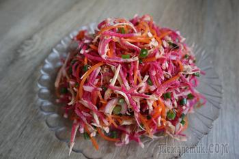 Бесподобный осенний салат с редькой! Не просто вкусно, а очень вкусно!