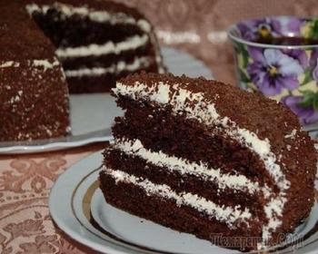 Рецепты торта «Черный принц»: готовим изысканный десерт со сгущенкой и вареньем