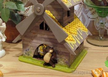 Медовый домик для конфет «Мишкина радость»