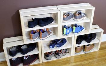 Обувная полка для большой семьи своими руками