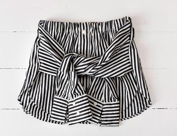 Оригинальная юбка для девочки из мужской рубашки своими руками