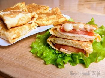 Быстрый рецепт горячего бутерброда