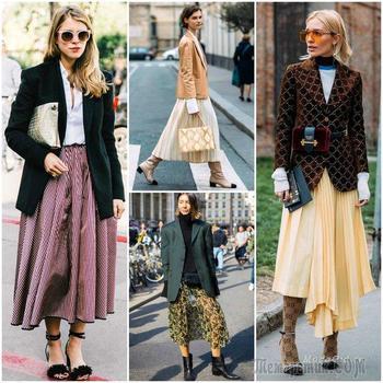 Самый модный дуэт осени 2018: пиджак + юбка
