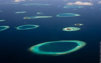 Мальдивы с высоты: фото путешествие