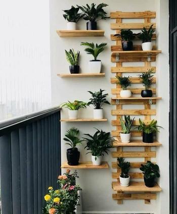 Оригинальная идея на балкон из брусков