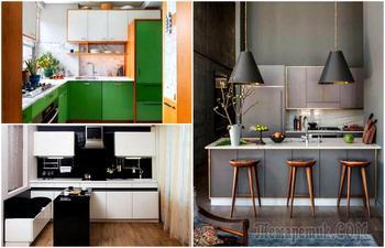 18 актуальных идей оформления и организации пространства на маленькой кухне