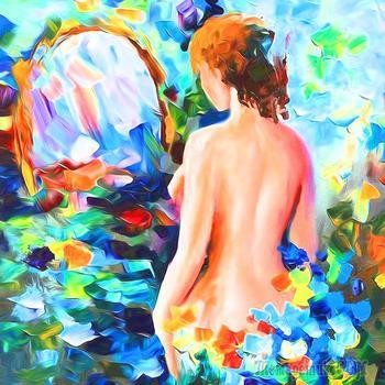 Перед  зеркалом.  Моему  отражению (Стих)
