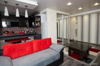 Ремонт в хрущевке за $12 000 с объединением кухни и гостиной