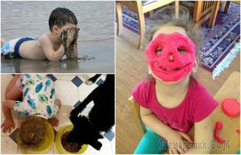19 жизненных снимков о детишках, которые сражают наповал своими проделками
