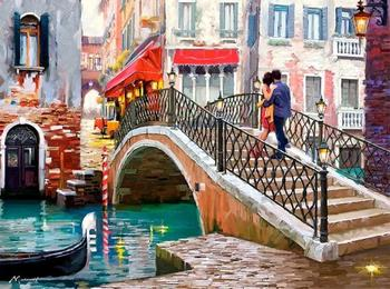 Акварельные города любви. Художник Ричард Макнейл (Richard Macneil)