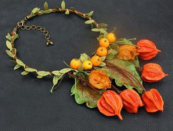 Осенние украшения из полимерной глины