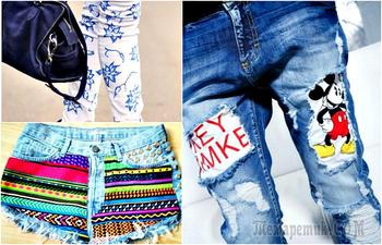 16 крутейших идей трансформации старых джинсов