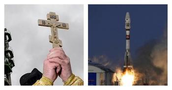 """Освящали ибудем освящать: РПЦпродолжит """"сотрудничество"""" сРоскосмосом"""
