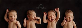 Очаровательные новорожденные малыши в объективе бывшей спортсменки-чемпионки
