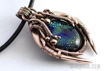 Делаем кулон «Сокровища Зергов» в технике wire wrap