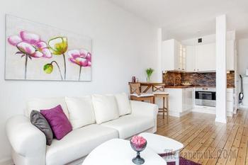 Светлый дизайн квартиры-студии 28 кв. м.