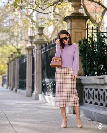 Как и с чем носить теплую юбку: 15 кокетливых и уютных примеров