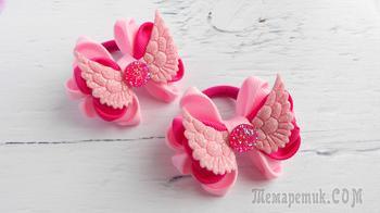 Романтичные бантики из лент для маленьких модниц