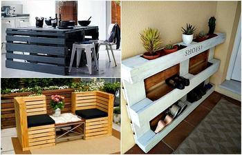 Примеры стильной мебели из поддонов