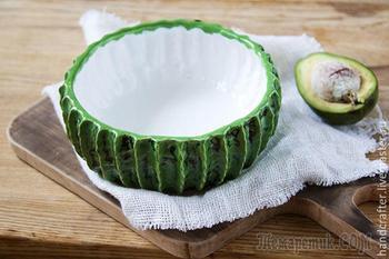 Делаем из глины оригинальный салатник в форме кактуса