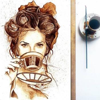 Невероятно детализированные рисунки, созданные с помощью кофе