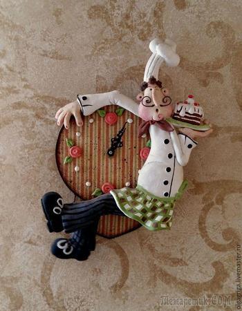 Мастер-класс по лепке из соленого теста. Часы с маятником «Веселый повар»