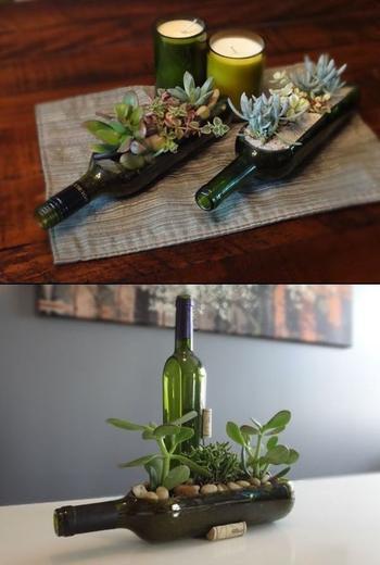 Идеи применения пустой винной бутылки