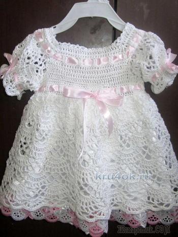 Как связать красивое детское платье