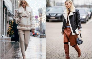 8 стильных образов с дубленкой, которые всегда в моде