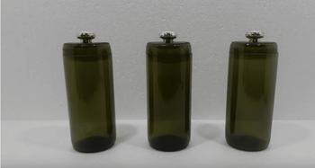 Превращение обычных стеклянных бутылок в изящные баночки для хранения