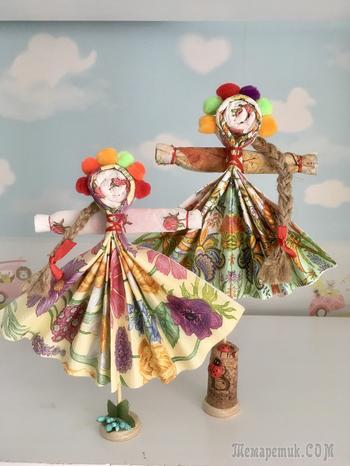 Куклы из салфеток своими руками