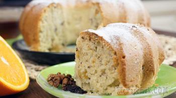 Постный кекс с апельсином и грецким орехом. Вкуснятина!