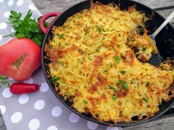 Проще простого, а вкусно как! Ароматное жаркое под картофельной крышечкой