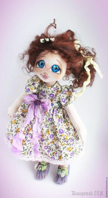 «Сиреневое счастье»: текстильная куколка — от выкройки до наряда