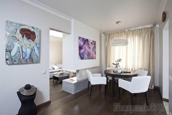 Современное оформление интерьера квартиры 57 кв. м.