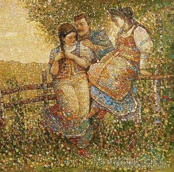 Владимир Распутин и его мозаичные картины