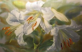 """""""Есть душа у цветов..."""" Изумительный батик Елены Тенер"""